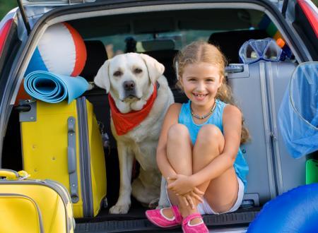 vacanza bambini e cane